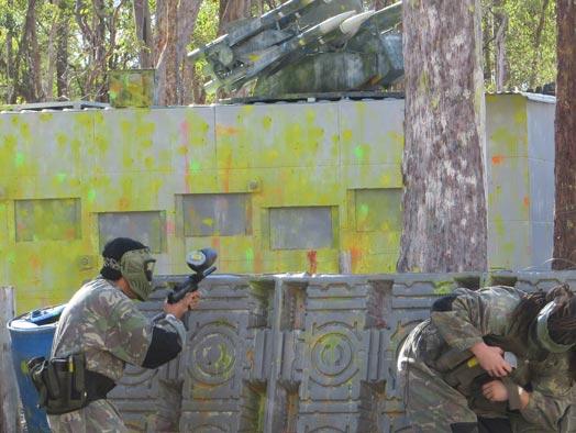 Skirmish Samford Paintball Brisbane battle bunker has been eliminated