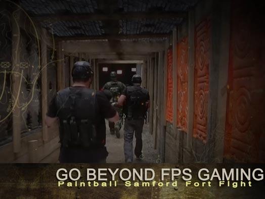 Skirmish Samford Paintball entering the battle bunker
