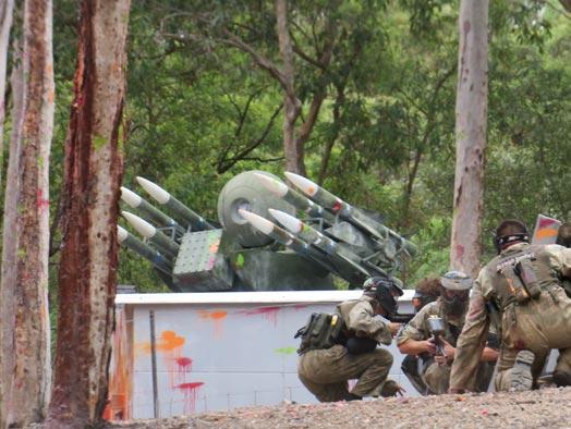 Skirmish Samford Paintball battle bunker and players