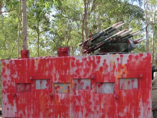 Skirmish Samford Paintball battle bunker with rapier missile