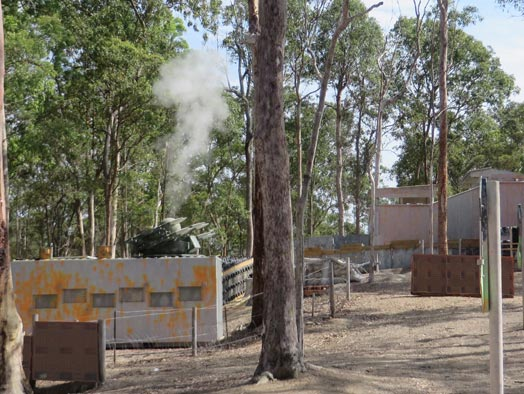 Skirmish Samford Paintball Brisbane battle bunker rapier missile exploding