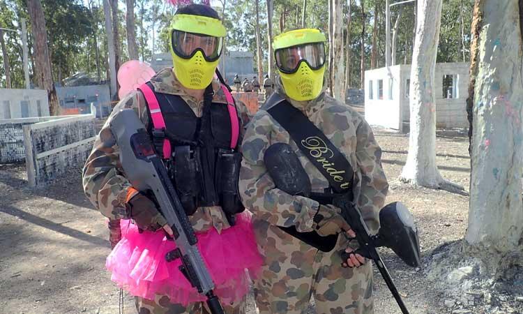 Skirmish Samford Paintball Brisbane party bucks hens groom bride